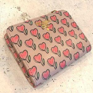 Prada Women's Saffiano Small Tab Wallet